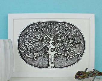 ON SALE Birds In A Tree Print