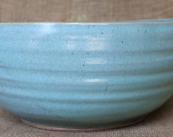 Large salad serving bowl, Stoneware, Ceramic fruit bowl, Pasta serving bowl