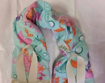 Hot/Cold Therapy Neck Wrap with straps and washable cover Mermaids