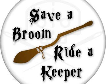 "Harry Potter - Inspired Ride A Keeper 2.5"" Pinback Button"