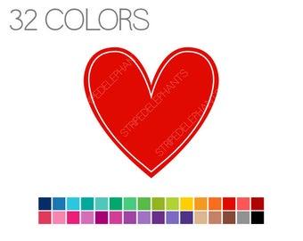 Heart Clip Art - Clip Art Basics Hearts - Instant Download - Commercial Use - Hearts V2
