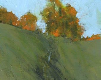 Semi-abstract landscape original painting - Autumn glow