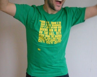 "Norwich City Shirt / Men's Football T-Shirt / ""On the Ball City"" / Norwich City Gifts / Soccer Jersey / Football Presents / Soccer Gifts"