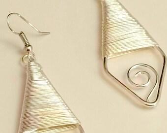 Diamond Dropped Wired Earrings