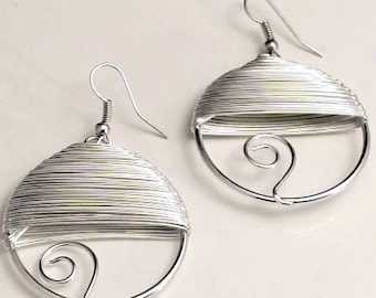 Round Circled Wired Earrings