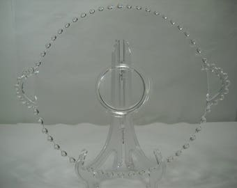 Imperial Candlewick Large Glass Platter Serving Tray With Handles FREE SHIPPING