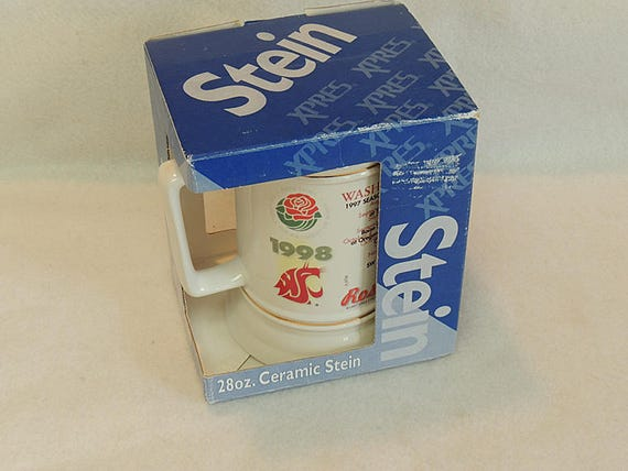 Vintage 1998 Rose Bowl Washington State Cougars Stein / Mug.. Never Used In Box