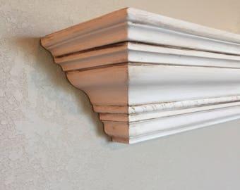 Distressed Farmhouse Mantel Style Shelf