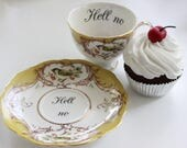 Bird Rude Teacup, Insult Teacup, Offensive Teacup, Extremely Durable & Foodsafe, CUSTOMIZABLE, Mean Teacup, Gift Teacup, Choose Any Teacup