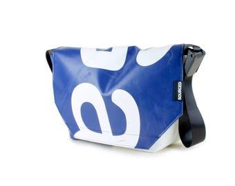 Large Messenger Bag made from Recycled Truck Tarp, Man Bag, Satchel Style Bag, MacBook Bag (61.05)