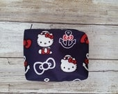 Mini Quicklet, Ju-Ju-Be customs, Hello kitty out to sea. Accessory Bags, Diaper bag, tiny zipper boxy bag