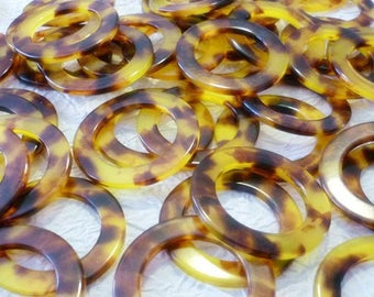 Vintage Tortoise Rings 44mm set of 4 Rings