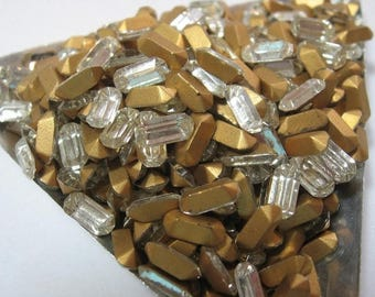 SPECIAL Vintage Crystal Baguette Rhinestones 8x4mm Made in France QTY - 6