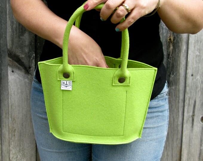 Designer Felt Mini Tote Handbag