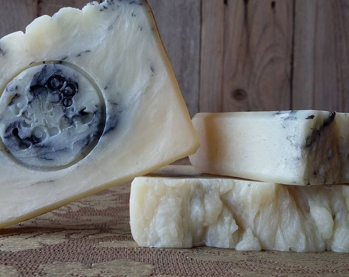 Ain't No Cure For the Spearmint Blues Soap - Spearmint soap, natural soap, essential oil soap, Activated Charcoal soap, Free Shipping