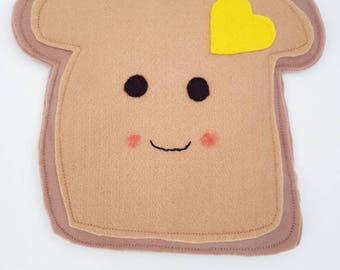 Felt Happy Buttery Toast Plush Toys/Decor - Kawaii Style!