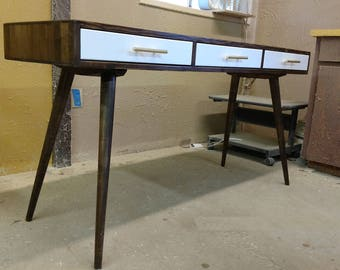 Mid Century Desk with 3 Drawers - MADE TO ORDER