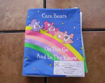 Care Bears on The Go and In The Know Quiet Soft Cloth Baby Toddler Story Book Handmade Ready to Read
