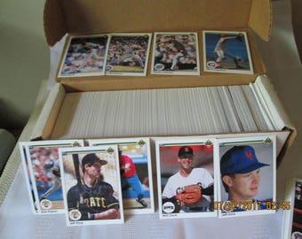 Vintage Upper Deck Baseball Cards, 1990 Series Baseball Cards, Baseball Card Collector,