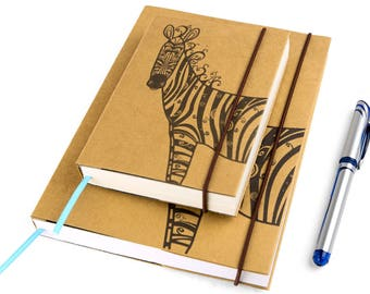 Zebra (Small), Journal, Notebook, Sketchbook, Personal agenda, Travel Journal, Diary, Calendar, Hardcover, Unique gift, Artistic