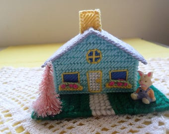 Miniature Easter Bunny House  Easter Village House