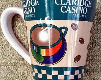 Claridge Casino at Ballys glass mug vintage