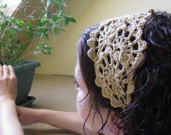 ON SALE 15 % SALE Crochet Headband - Summer Hairband - Crochet Head Wrap - Womens Crochet Summer Hairband - Summer Hair Fashion Accessories-