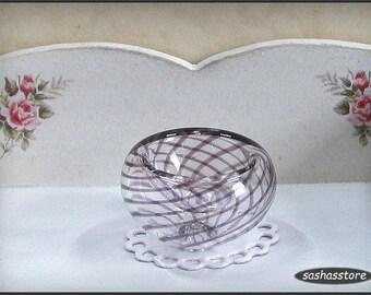 Miniatuur poppenhuis glazen kom, glaswerk voor 1:12 poppenhuis decoratie, handgemaakte glazen, kunst glas