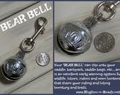 BEAR BELL, Trail Bear Bell, Bear Bells, Hiking, Horse beads, Rhythm Beads,Horse Lovers, Trail bell, Trail warning bells