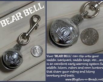 BEAR BELL, Trail Bear Bell, Bear Bells, Hiking, Horse beads, Rhythm Beads,Horse Lovers, Trail bell, Trail warning bells