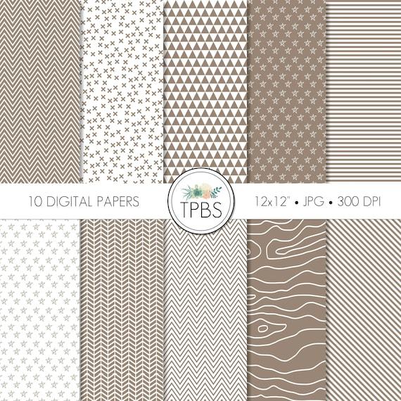 Digital Paper Brown Digital Paper Tan Digital Paper
