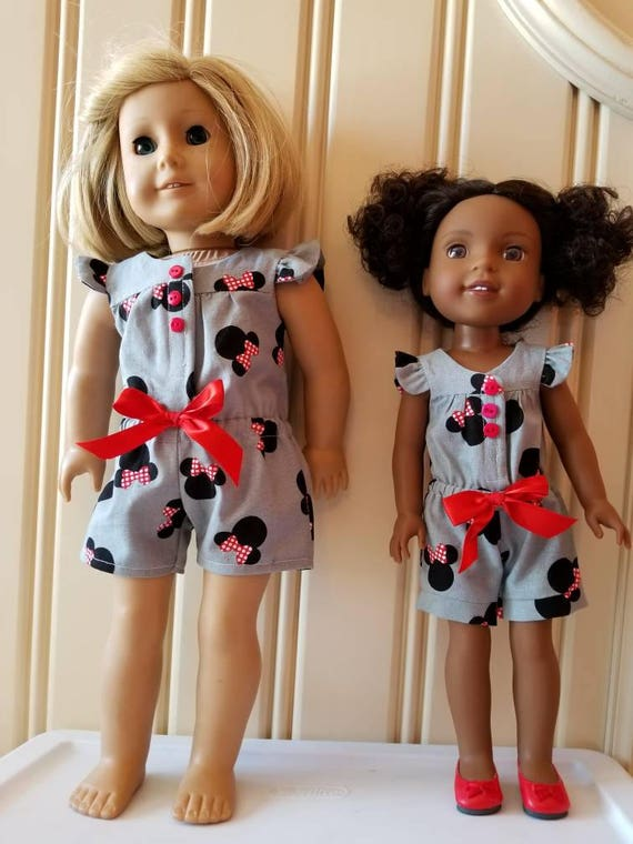 Mickey Mouse  Rompers for  Wisher Wisher Dress or American Girl Doll