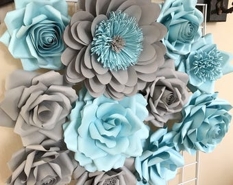 Paper Flowers Wall Decor - Baby Shower - Home Decor - Nursery Decor - Paper Flower Backdrop - Paper Flowers - Photo Shoot - Backdrop