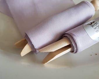 Winter Lavender Habotai Silk Ribbon