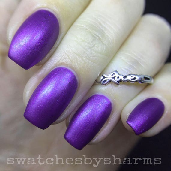 Orion's Bat Nail Polish matte purple shimmer vegan