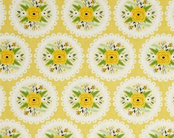 KITCHEN DOILY PRINT  on Light Yellow 40 x 14 lined or unlined