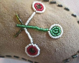 Antique Native American Indian Moccasins Beading