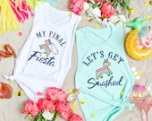 Fiesta Bachelorette party shirts - Final Fiesta & Let's Get Smashed | Bride and bridesmaid gifts | Mexico bachelorette