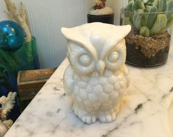 Vintage white Owl made in Japan