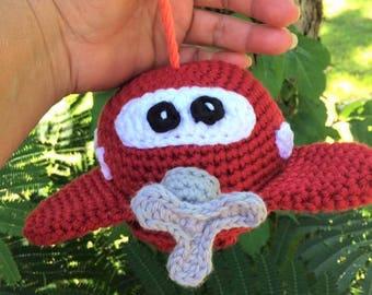 Crochet Airplane Bath Scrubby