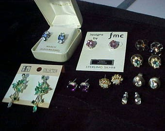 Ear Studs Lot of 9 nos and Vintage 90s