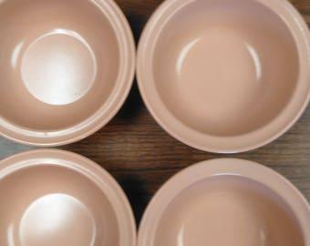 Set of 4 ~ Mauve/Pink Prolon Cereal Bowls