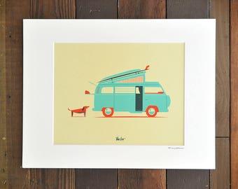 Van Life - 8x10 Matted Print (11x14)