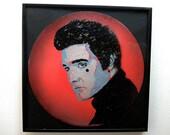 Elvis Presley stencil art vinyl record Limited Edition