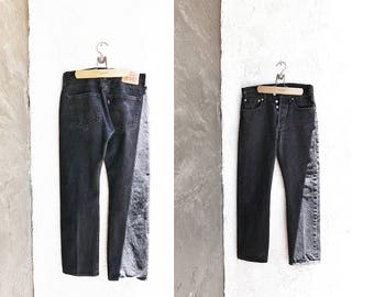 Levi 501, Black Denim Jeans Size W 31 L 30, Button Fly Riveted Levi Strauss & Co, Free Shipping