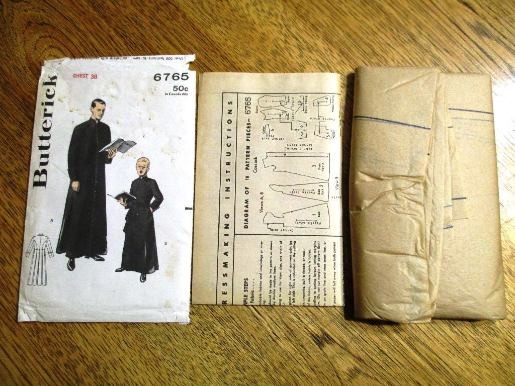 Vintage 1950s traditional priests cassock fitted priest robe sold by platypusdream jeuxipadfo Images