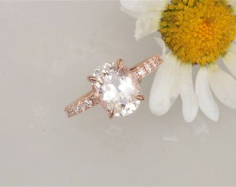 3.77ct Champagne Sapphire Rose Gold Engagement Ring
