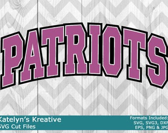 Patriots Arched SVG Files