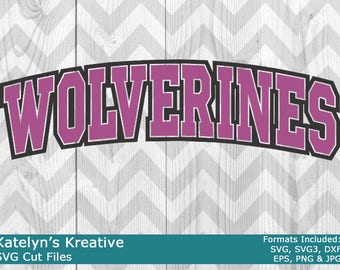 Wolverines Arched SVG Files