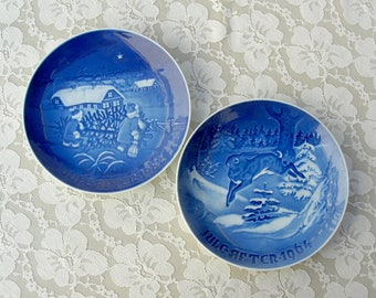19 Christmas Plate Collection, Bing & Grøndahl, 1964-1982, ONE PLATE, buy complete set or individual plates, collectible Danish plates